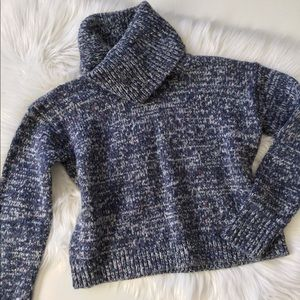 LOu & Grey Cozy Turtleneck Cropped Sweater NWT